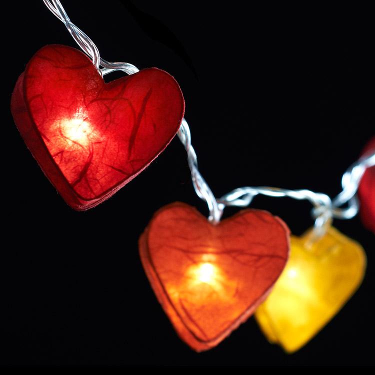 Radiant Hearts - 10 Lamps Fire Tones